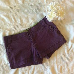 Purple Jean Shorts